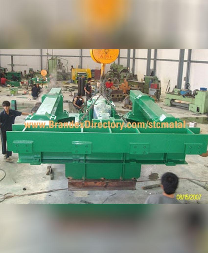 งานสร้างชุดแท่น Transfes ใช้ในอุตสาหกรรมโรงรีดเหล็กเส้นก่อสร้าง