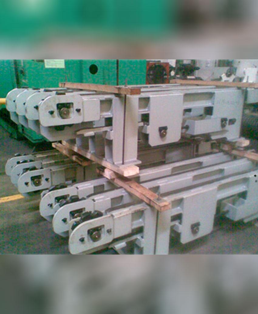 งานสร้าง Frame Chaintransfer ใช้ในอุตสาหกรรมโรงผลิตเหล็กเส้น